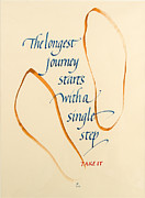 Calligraphy Prints - Take It Print by Jacqueline Svaren