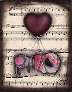 Music Paper Framed Prints - Take me away- Driftin  Framed Print by  Abril Andrade Griffith