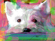 Westie Puppies Prints - Take me Home Print by David Lloyd Glover