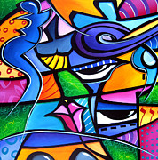 Colorful Abstract Drawings - Take Me Home by Tom Fedro - Fidostudio