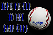 League Prints - Take Me Out To The Ball Game - Baseball Season - Sports - Red White And Blue 2 Print by Andee Photography