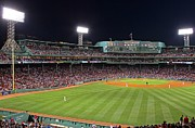 Boston Sox Prints - Take Me Out To The Ballgame Print by Juergen Roth
