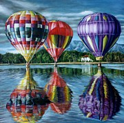 Contest Painting Prints - Take me There-Ballons Print by Maxx Phoenixx