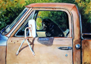 Black Lab Puppy Paintings - Take Me With You by Molly Poole