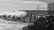 California Big Wave Surf Prints - Take No Prisoners Print by Ron Regalado