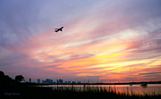 Winthrop Framed Prints - Take Off at Sunset in 1984 Framed Print by Michelle Wiarda