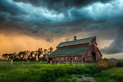 Barn Digital Art Prints - Take Shelter Print by Aaron J Groen