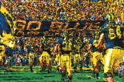 University Of Michigan Framed Prints - Take the Field Framed Print by John Farr