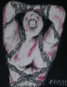 Symbolism Pastels - Take these chains that are holding me down. by Phillip Rangel