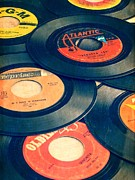 Vintage Music Player Prints - Take Those Old Records Off The Shelf Print by Edward Fielding