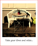 Take Time Framed Prints - Take your time and relax Framed Print by Susanne Van Hulst