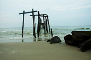 Ruins Digital Art Metal Prints - Taken by the Sea - 59th Street Pier Metal Print by Bill Cannon