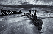 Beached Photos - Taken by the Sea by Mike  Dawson