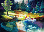 Canoes Originals - Taking a Break 2 by Kathy Braud