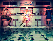 Eatery Digital Art - Taking A Break by Bob Orsillo