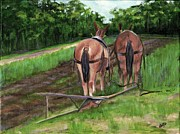 Farm Scenes Originals - Taking A Break by Deborah Butts