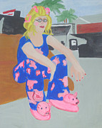 Pajamas Prints - Taking a Break Print by Olivia Hoff