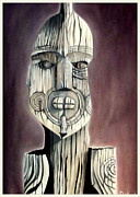 Carving Sculpture Metal Prints - Taking A Stand Metal Print by Dawson Taylor