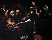 Caravaggio Posters - Taking of Christ Poster by Massimo Tizzano