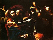 Caravaggio Paintings - Taking of Christ by Pg Reproductions