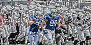 Pennsylvania State University Prints - Taking The Field Print by Gallery Three