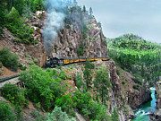 Narrow Gauge Photos - Taking the Highline Home by Ken Smith