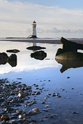 Flintshire Framed Prints - Talacer abandoned lighthouse Framed Print by Karen Lawrence