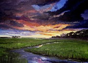 Prairie Sunset Paintings - Talbot fire by Scott McLeod