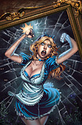 Tinker Bell Framed Prints - Tales from Wonderland Alice  Framed Print by Zenescope Entertainment