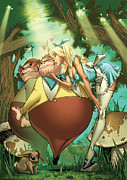 Grimm Mixed Media Framed Prints - Tales from Wonderland Tweedledee and Tweedledum Framed Print by Zenescope Entertainment