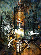 Knighthood Mixed Media Posters - Tales Of Chivalry Poster by Tammera Malicki-Wong