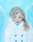 Charlotte Painting Posters - Talini Little Snow Angel Bringing Warmth On Cold Days Poster by The Art With A Heart By Charlotte Phillips