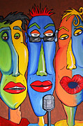 Talking Paintings - Talking Heads by Vickie Scarlett-Fisher