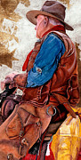 Cowboy Hat Paintings - Tall in the Saddle by JK Dooley