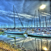 Sound Digital Art - Tall Masts at Rest by Dale Stillman