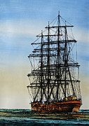 Sailing Vessel Print Metal Prints - Tall Ship Beauty Metal Print by James Williamson