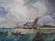 Storm Prints Originals - Tall ship by David Paterson