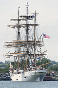 Trumbull Connecticut Prints - Tall Ship Eagle OpSail 2012 Print by Marianne Campolongo