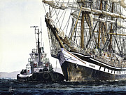 Tall Painting Posters - Tall Ship PALLADA Poster by James Williamson
