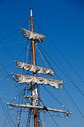 Boats Docked Prints - Tall Ship Rigging Print by Art Block Collections