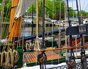 Docked Sailboat Originals - Tall Ship Rigging by Garry Schmidt