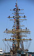 Tall Ships Prints - Tall Ships 2 Print by Andrew Fare