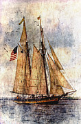 Wooden Ship Digital Art Posters - Tall Ships Art Poster by Dale Kincaid