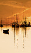 Tall Ships Prints - Tall Ships At Dawn Print by Darren Burroughs