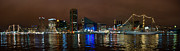 Inner Harbor Photos - Tall Ships at Night Pano 2 by Mark Dodd