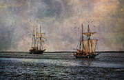 Wooden Ship Digital Art Posters - Tall Ships Poster by Dale Kincaid