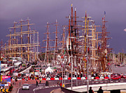 Tall Ships Prints - Tall ships Print by Joe Cashin