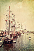 Green Bay Framed Prints - Tall Ships Framed Print by Joel Witmeyer