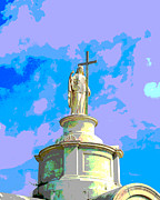 New Orleans Cemeteries Digital Art - Tall Statue by Alys Caviness-Gober