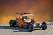 Ford Model T Car Posters - Tall T Rat Rod Poster by Dave Koontz